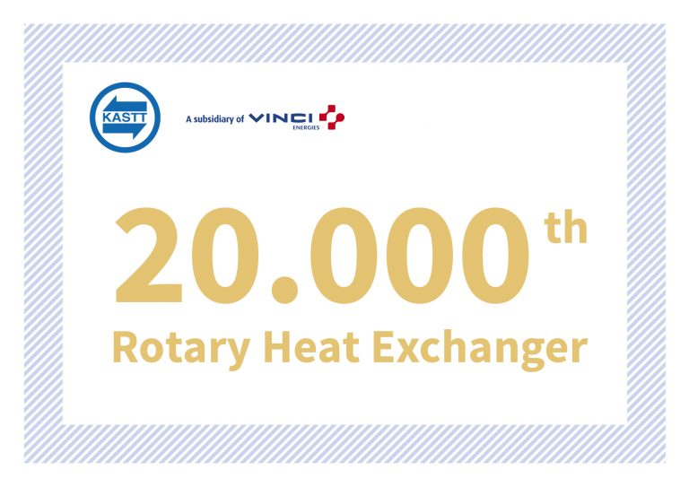 Production anniversary: Rotary heat exchanger with serial number 20.000!